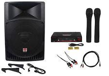 "Rockville Powered 15"" ipad/iphone/Android/Laptop/TV Pro Karaoke Machine/System"