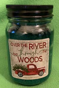 Crossroads Balsam Fir Jar Candle w/Red Truck, 12oz - Over the River