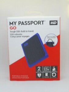 New WD 2TB My Passport Go SSD Portable External Drive, USB 3.0