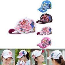 Femme Casquette Baseball Papillon Fleur Chapeau Bonnet Soleil Hip Hop Snapback