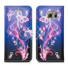 LEATHER WALLET BOOK STYLE FLIP PHONE CASE COVER SAMSUNG GALAXY ACE 2 3 4 & MORE