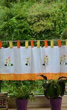 Scheibengardine Kurzstore Bistrogardine Panneaux Blume Landhaus Shabby 145/45