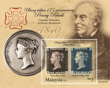 Malaysia 2015 175th Year Anniversary of Penny Black ~ M/S Mint