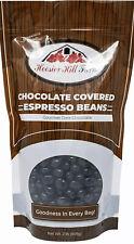 Hill Farm Gourmet Dark Chocolate covered Espresso Beans 2 lb Bag EXP 5/2021! NEW