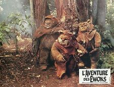THE EWOK ADVENTURE STAR WARS 1984 2 VINTAGE LOBBY CARDS LOT #1
