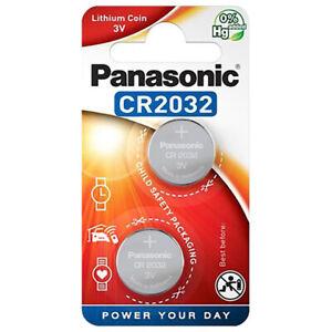 kQ Panasonic Knopfzelle Lithium CR2032 3V Batterien 2er Blister