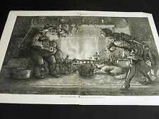 "Thomas Nast Christmas SANTA CLAUS ""Here We Are Again"" 1878 Large Folio Print"
