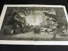 "Thomas Nast Christmas SANTA CLAUS ""Here We Are Again"" 1878 Large Folio Print"