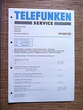 Service Manual für Telefunken HP 850 CD,ORIGINAL