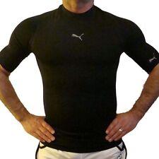 Puma Capa Base de compresión para hombre camisa manga corta,blanco/Negro,504194