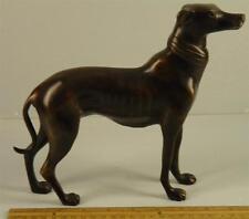 Vintage Bronze Dog Sculpture Statue Greyhound Whippet Standing
