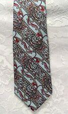 Designer CHRISTIAN DIOR Dk. Red/Burgundy/Lt.Blue Tie - 100% SILK