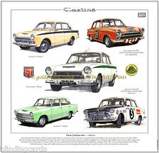 FORD CORTINA MK1 - 1962-66 Stampa artistica - Lotus GT TOURING Auto Rally MARK1