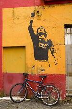 Australian banksy graffiti street south america lionel messi soccer