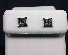 Real Black Diamonds Pave Men & Women Earring Screw Back kc sttings studs