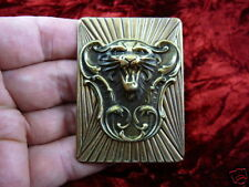 (b-lion-252) Lion roaring big cat wild I love Lions brass pin pendant lover