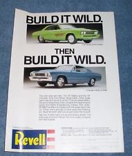 """Revell 1967 Chevelle SS396 Vintage Ad """"Build it Wild..."""" Pro Street"""