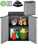 Plastic Garden Storage Cupboard. Outdoor or Sheds / Garages. Plastic Cabinet.