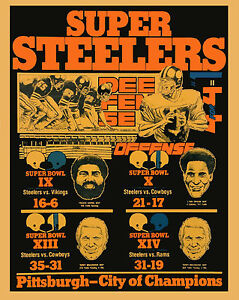 Pittsburgh Steelers - City of Champions Poster, 8x10 color photo