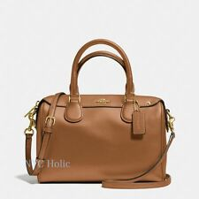 New Coach F36624 Mini Bennett Satchel In Crossgrain Leather Saddle Brown NWT