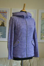 MERRELL Womens Fleece Jumper Top Full Zip Purple Lilac Textured LS Hooded Sz. XS