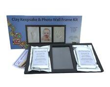 Baby Clay Footprints Handprint Keepsake & Photo Wall Frame Kit No Bake Air Dry