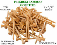 "Tee Golf 2 3/4"" 250 Count 2.75"" Buy Bulk Wooden Golf Tees Choose Quantity Stock"