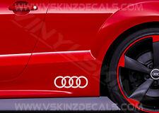 Audi Rings Premium Bandella Laterale Decalcomanie Adesivi Quattro S-line A3 A4