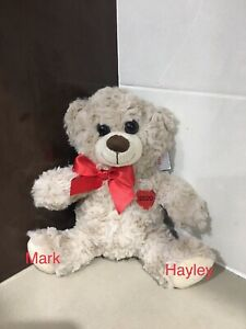 Personalised Bear with heart - Plush Soft Toy Valentines Newlywed Couple Gift