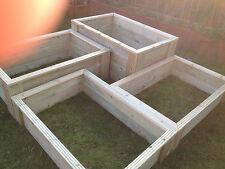 tanalised deluxe decking raised bed garden planter 1200x600x265mm 4ft x 2ft bnib