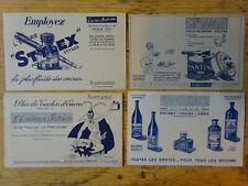 4 Anciens Buvards Encres Antoine Stylex - Encrivore - Pastine - Colles - Cires