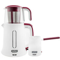 Mulex Elektrischer Tee -Wasserkocher Mokkakocher Teesieb Kalksieb 2-in-1 SET Rot