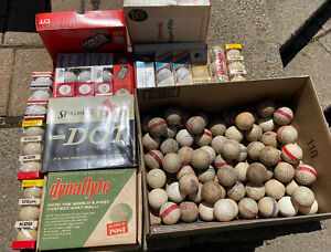 Huge Collectors Lot Antique Golf Balls Round Dimple Golf Balls 1950's And 60's