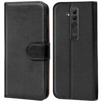 Handy Hülle Huawei Mate 20 Lite Cover Schutz Tasche Slim Flip Case Bookcase