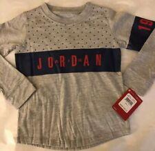 Air Jordan 1992 Boys Long Sleeves Shirt Size 4T Gray, Purple And Red Nwt