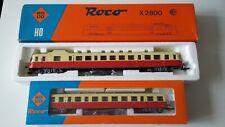 AUTORAIL ROCO X2800 ET SA REMORQUE EN BOITE ORIGINE