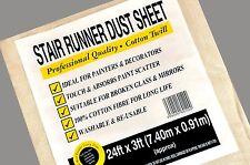 "5 X LARGE ( 24"" X 3"" ) STAIRWAY STAIR RUNNER DUST SHEET 100% COTTON TWILL"