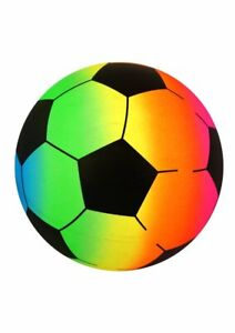 Rainbow Football Ball Kids Outdoor Toy Garden Game - Pocket Money Toy