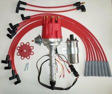 BIG BLOCK CHEVY 348 409 PRO SERIES Small HEI Distributor +Chrome Coil+Plug Wires