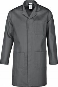 Arbeitsmantel  Berufsmantel Berufskittel Kittel grau  Baumwolle Gr.XS-5XL