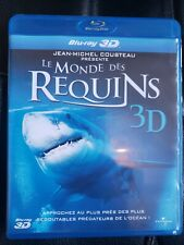 BLU RAY 3D/2D LE MONDE DES REQUINS JM Cousteau Ed FR prédateurs sharks
