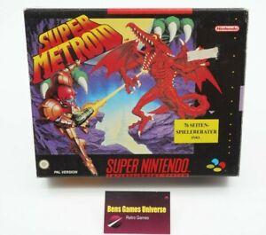 SNES Super Nintendo Super Metroid mit Ovp und Spieleberater NOE