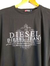 Great DIESEL Black Round Neck 'Diesel Jeans' Logo T-Shirt Top Tee ~ Size L