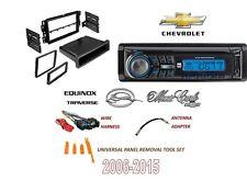2006-2015 CHEVROLET IMPALA EQUINOX TRAVERSE SINGLE DIN Stereo KIT CD MP3 AM/FM