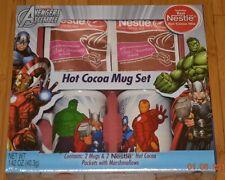 Marvel Avengers Assemble Nestle Hot Cocoa Mug Set 2 Mugs Hulk Iron Man Thor -NIP