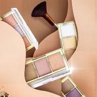 3 Color Face Highlighter Palette Powder Bronzer Shimmers Contour Brighten Fashio