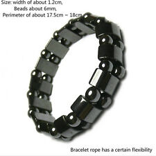 Weight Loss Round Black Stone Bracelet Health Care Magnetic Therapy Bracelet KQ