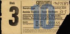Ticket bl 80/81 arminia bielefeld-bayer uerdingen
