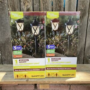 (2 Pack) Better Homes and Gardens Balmoral QuickFIT LED Pathway Light