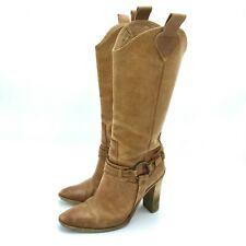 Pre-Owned Rare Women's 8.5 Size Bcbg Maxazria Rusty Tan Leather Boots